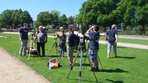 Die Fachgruppe bei der Straßenastronomie vor dem Holstentor am 27.5.2017