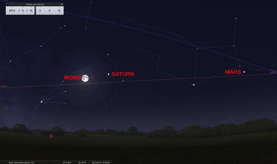 15. Mai: Der jetzt abnehmende Mond wechselt von der Waage in den Skorpion