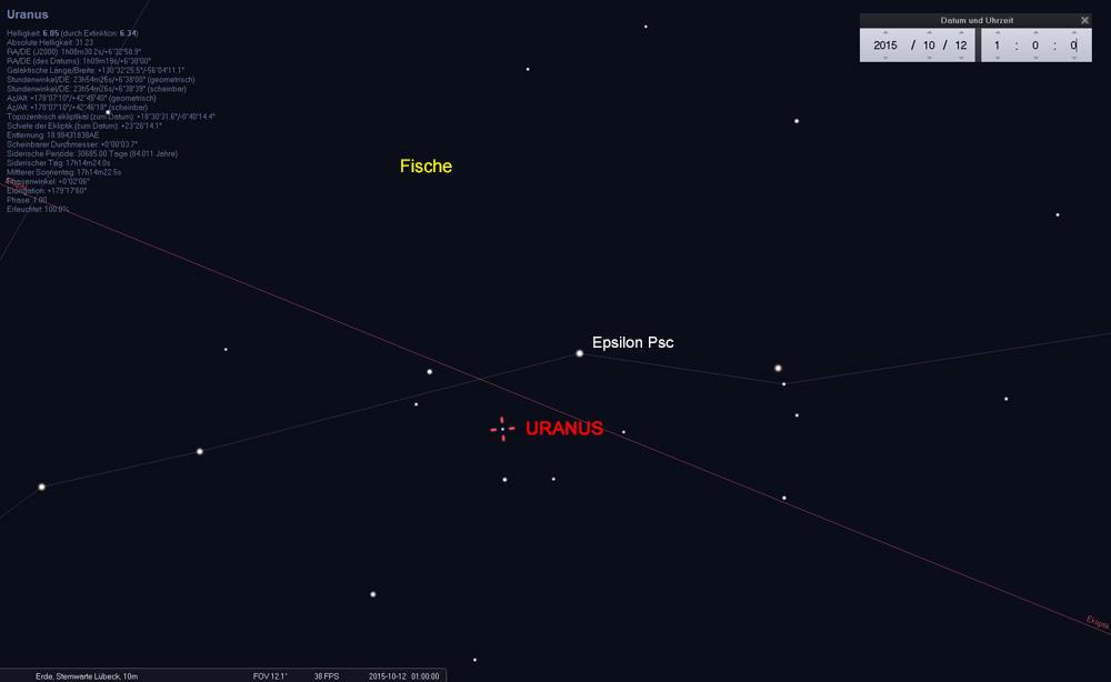 ...im Fernglas links unterhalb des Sterns Epsilon Piscium