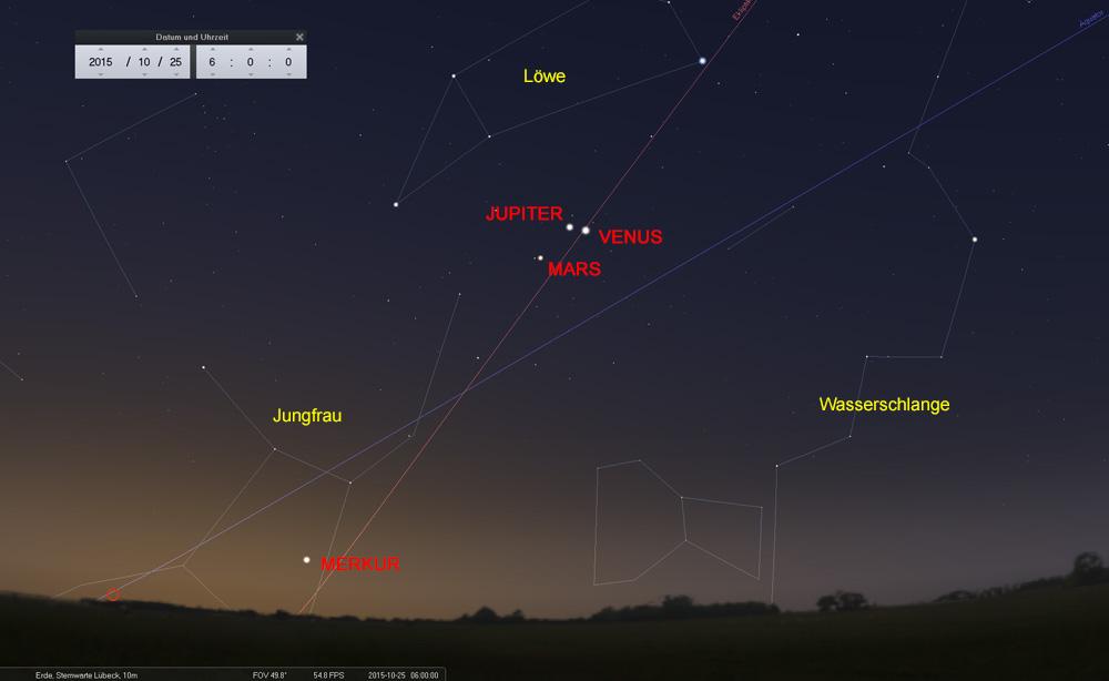 25.10.: Auch Venus überholt jetzt den Jupiter - Merkur wird bald unsichtbar