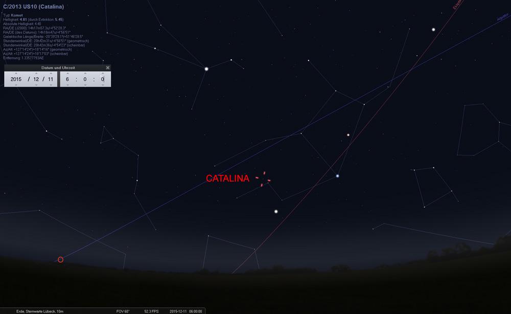 11.12.: Catalina wandert weiter nach Norden. Im Folgenden die Position alle drei Tage