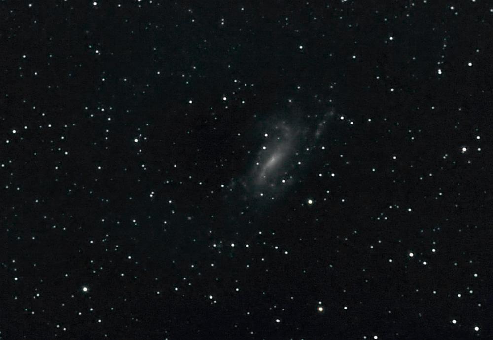 NGC 925 ist eine Spiralgalaxie im Sternbild Dreieck. Sie ist rund 28 Millionen Lichtjahre von der Erde entfernt (Friedrich Schrader)