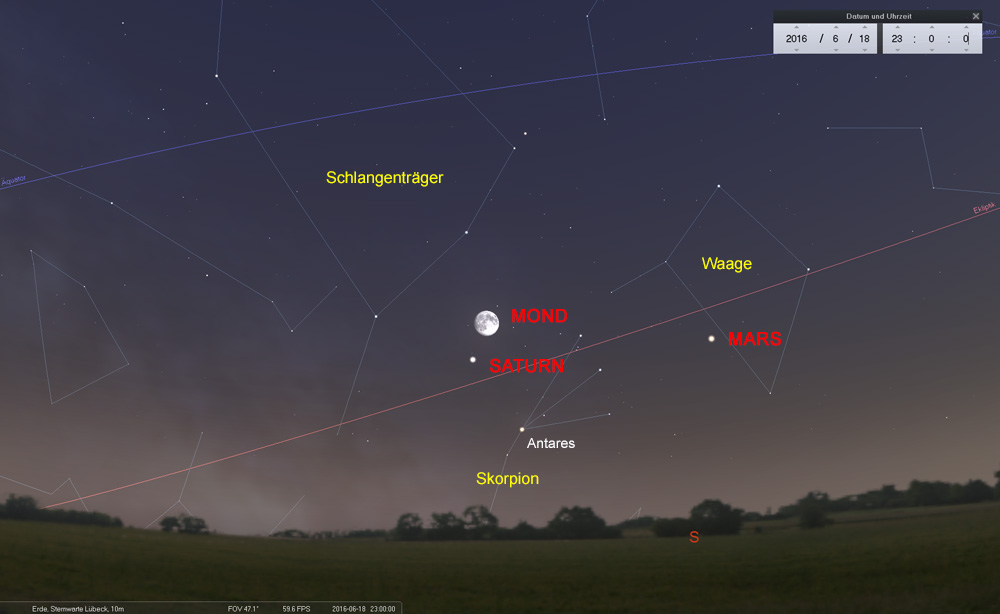 18.06.: ...und ganz nah beim Ringplaneten