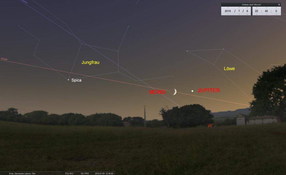 09.07.: Der Mond verabschiedet sich...