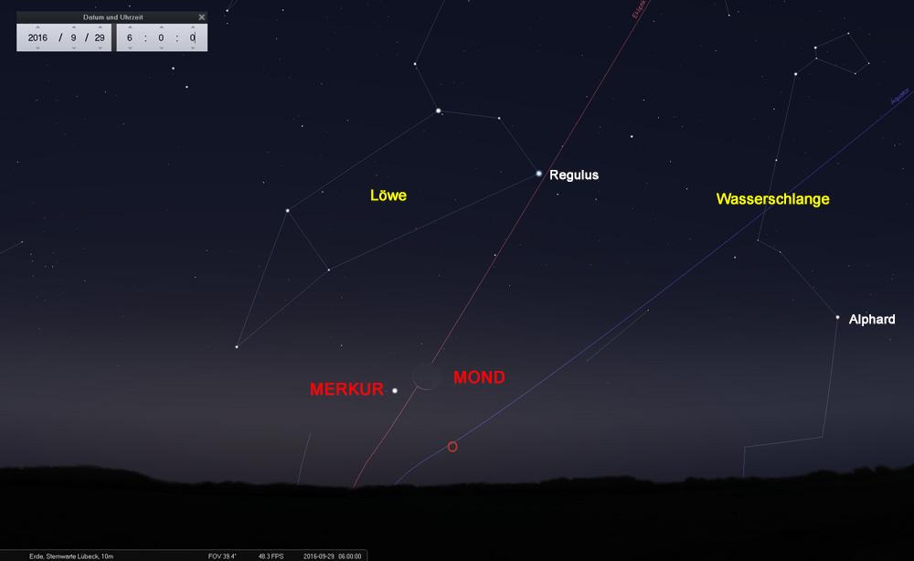 29.09.: Eine gute Gelegenheit, den Merkur zu beobachten