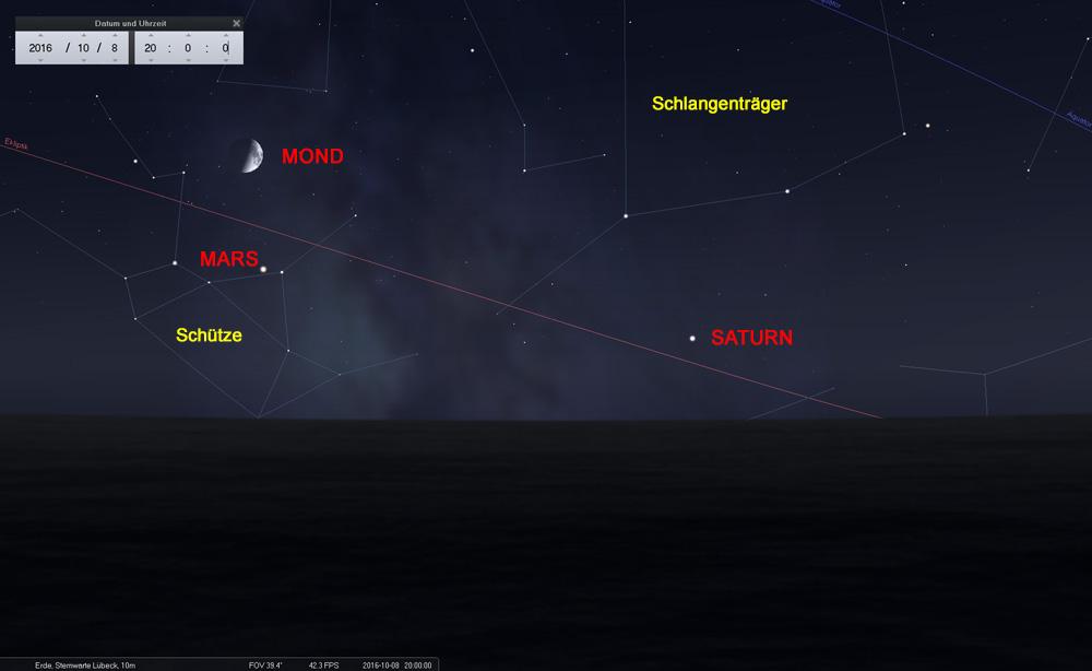 08.10.: Der Halbmond bei Mars