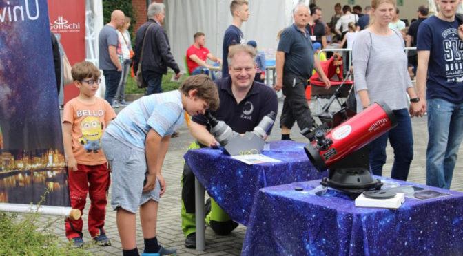 So war es am Stand der Sternwarte auf dem Campus-Festival der TH Lübeck am 15.06.2019
