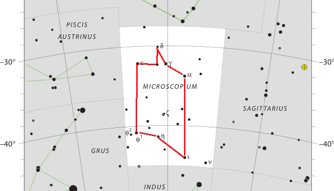 Das Sternbild Microscopium – Mikroskop