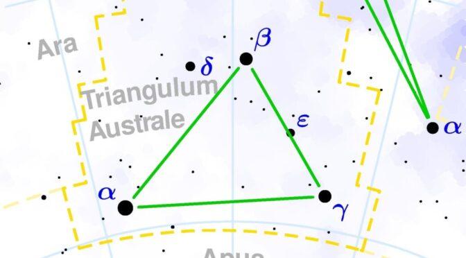 Das Sternbild Triangulum Australe – Südliches Dreieck