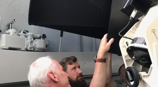 Das Teleskop ist montiert